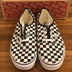 Vans black and white checkerboard authentic shoes